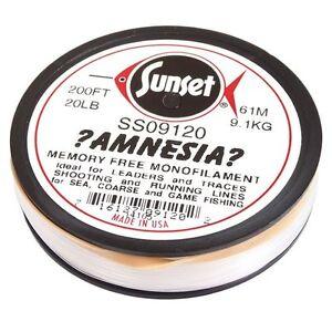 Amnesia Monofilament Memory Free Fishing Line by Sunset