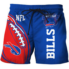 Buffalo Bills Men's Summer Beach Swim Trunks Shorts Surf Sport Pants Boxer S-5XL