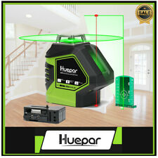 Green Laser Level 360 Degree Cross Line with 2 Plumb Dots points Self Leveling