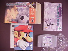 N64 Nintendo 64 Mia Hamm Soccer 64 Video Game Complete w.Box and Manual Mint