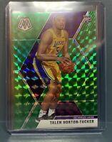 2019-20 Panini Mosaic Rookie Green Prizm Talen Horton-Tucker #215 Lakers
