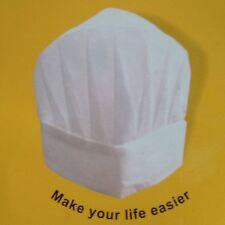 Chef Papel Blanco Sombreros Pack de 7 Catering Toque, Comida Higiene Desechable