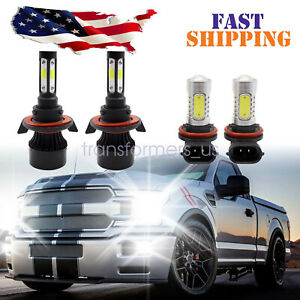 For Chevy Cruze 2011-2015 LED Headlight Hi/Lo + Fog Light Bulbs Combo 4Pcs