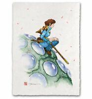 Nausicaa Valley of The Wind Japanese Edo Style Giclee Poster Print 12x17 Mondo