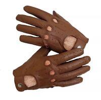 Leather Sheepskin Men's Gloves Brown (Large)
