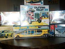 Truck Trailer And Five Cars Auto Transport Bundle Please Read Description