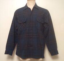 Vintage 1960s Medium Pendleton Board Shirt Flap Pockets Loop Collar Silverwoods