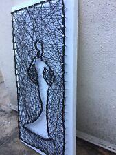 VINTAGE/RETRO GEOMETRIC STRING PIN/NAIL WALLL ART MANNEQUIN 22 X 45