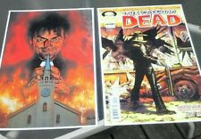 The Walking Dead #1 and Preacher #1 11x17 color PRINTS. They look awesome framed