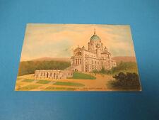 St Josephs Shrine Montreal Canada 1938 Postmarked Vintage Color Postcard PC26