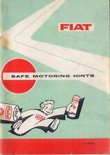 Fiat Safe Motoring Hints 15th Edition 1966