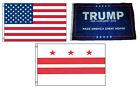 3x5 Trump #1 & USA American & District of Columbia Wholesale Set Flag 3'x5'