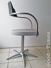 "70s Friseurstuhl 360° drehbar Top Designer Stuhl Arbeitsstuhl ""Krähenfuß"" 80er"