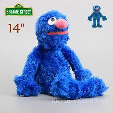 Sesame Street Grover Furry Plush Blue Soft Doll Cuddle Stuffed Toy Puppets 14''