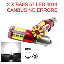 2 LAMPADINE AUTO BA9S 57 LED 4014 CANBUS NO ERRORE LUCE POSIZIONE BIANCA