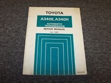 1986 1987 1988 1989 Toyota Supra A340E Transmission Shop Service Repair Manual