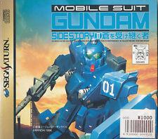 Mobile Suit Gundam Side Story II  Sega Saturn Import  Near Mint/ Good