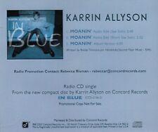 Moanin' [Promo Single] by Karrin Allyson (Cd 2002) [3 Versions] MINT