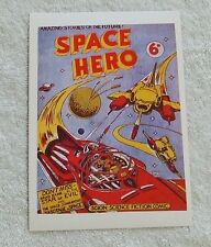 1992 Denis Gifford Space Aces POSTCARD - GALACTIC PATROL, SPACE HERO Comic