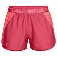 Under Armour UA HeatGear Pink Sports Play Up 2.0 Ladies Running Shorts
