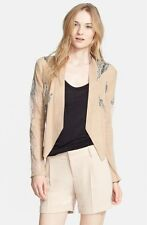 HAUTE HIPPIE Draped Leather Suede Lace Blazer / Jacket 6 Fits 4  $995