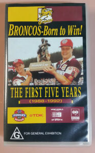 BRONCOS - BORN TO WIN - THE FIRST 5 YEARS  1988-1992  VIDEO  VHS