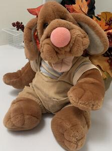 "Wrinkles The Brown Dog Hand Puppet Plush Puppy  17"" Vintage GANZ BROS EUC"