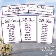 Personnalisé Mariage Table De Fête plan Nom Décoration Papeterie Carte toute couleur