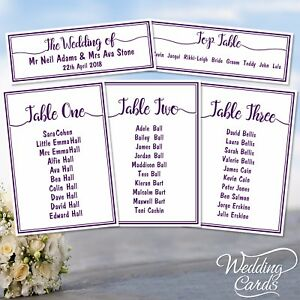Wedding Party Table Plan Names Decoration Place Planner List Cards seating chart
