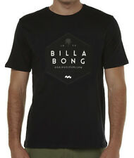 "BRAND NEW  TAG BILLABONG MENS LARGE (L) ""STATED"" SURF T-SHIRT TEE CORE FIT BLACK"