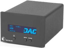 PRO-JECT DAC BOX DS CONVERTITORE D/A OTTICO COASSIALE USB NERO NUOVO GARANZIA IT