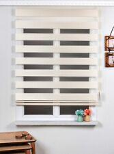 Brillant Bambo Zebra Ecru Roller Blinds 100 X 200 cm Home Office Window Shades