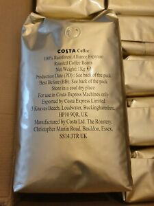 Costa Coffee Beans (1kg ×10) *SPECIAL Offers*/100% Rainforest Alliance Espresso