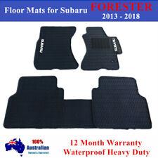 Heavy Duty 100% Waterproof Rubber Floor Mats for Subaru Forester 2013 - 2018