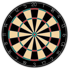 """Dart Board Cake Topper 10"""" Printed Iced Cake Toppers Personalised"""