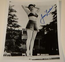 JOAN LESLIE /  8 X 10  B&W  AUTOGRAPHED  PIN-UP  PHOTO