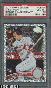 2011 Topps Update Diamond Anniversary #US175 Mike Trout RC Rookie PSA 10