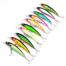 5pcs Fishing Topwater Popper Pencil Minnow Crankbaits Lure Hook Baits 11cm/21g