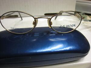 JG HOOK EYEGLASS FRAMES Style ANNE  in BROWN  Sz. 49-19-135   Free  CASE