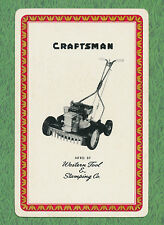 Craftsman lawn mower advertising playing card single swap ace of spades - 1 card