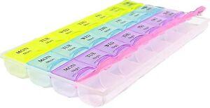 Pills box 28 Slot 7 Days Weekly Tablet Medicine Box Holder Storage Organizer