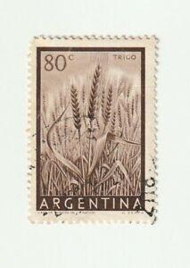 Argentina 1954 80c Wheat Used Stamp