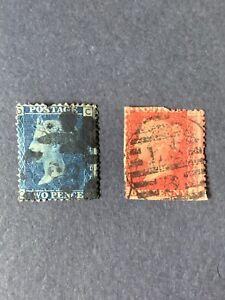 1858-64 Great Britain Stamps ,Queen Victoria
