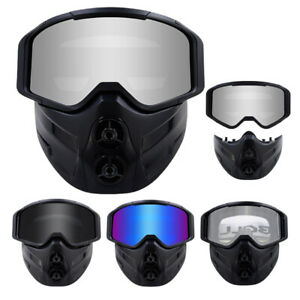 Cycling Bike Goggles with Modular Face Mask Racing Sports Glasses for Men Women
