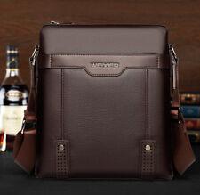 WEIXIER Men's Leather Messenger Bags Shoulder Briefcase Bag Crossbody Handbag