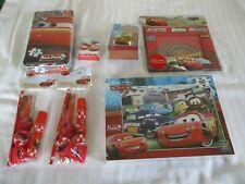 new disney pixar cars joblot  puzzle clock ball etc 7 packs