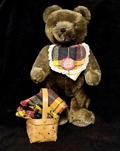 Rare Vintage Hermann  Brown Mohair Musical Teddy Bear West Germany - NWT