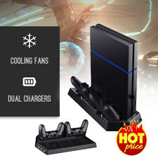 PS4 Cooling Station Vertical Stand w/ 2 Controller Charging Dock & USB Hub Gifts