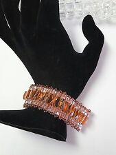 Peach Crystal Cuff Bracelet