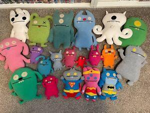 "Huge ""Ugly Dolls"" Lot- 20 Plush Dolls!- Various Sizes, Batman/Superman/Superwoma"